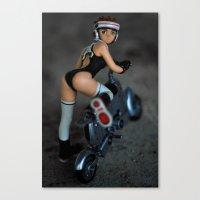Girlbike Canvas Print