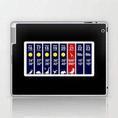 Dinosaur Extinction Weather Forecast Laptop & iPad Skin