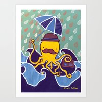 A Rainy Day At Sea Art Print