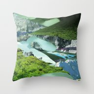 Throw Pillow featuring Experiment Am Berg 20 by Marko Köppe