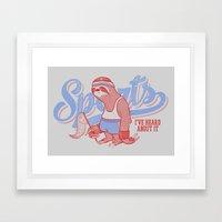 Sports? Framed Art Print