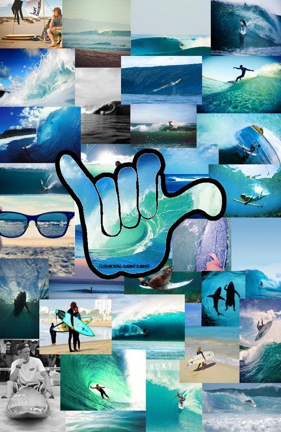 Carlyfornia Surfer Art Print
