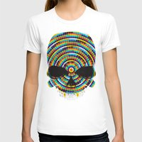 Hypnotic Skull Womens Fitted Tee White SMALL