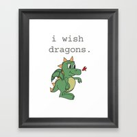 I wish dragons Framed Art Print