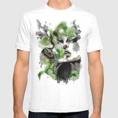 Kiss by carographic SMALL Mens Fitted Tee White