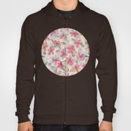 Pink Painted Blossom Pat… Hoody