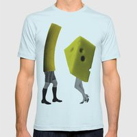 Because she's the cheese and I'm the macaroni Mens Fitted Tee Light Blue SMALL