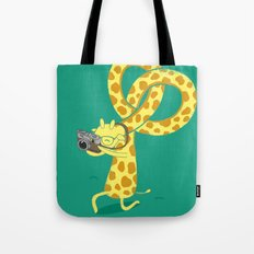 A Giraffe Photographer Tote Bag