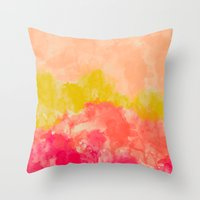 Swimming In Flowers Throw Pillow