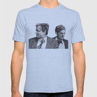 True Detective Mens Fitted Tee Athletic Blue SMALL