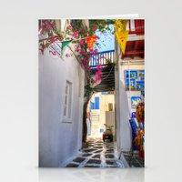 Greece Santorini Island Stationery Cards