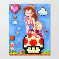 Princess Peach Pinup #8 Canvas Print