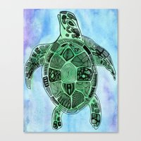 Tatoo Sea Turtle Canvas Print