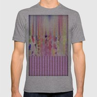 Modern Pattern Mens Fitted Tee Athletic Grey SMALL