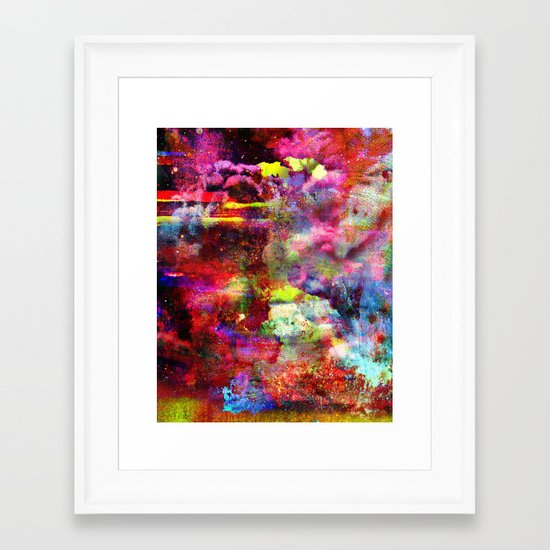 Untitled 20100805h (Cloudscape) Framed Art Print