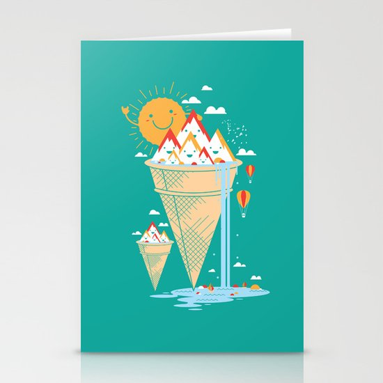 mystery island Stationery Card