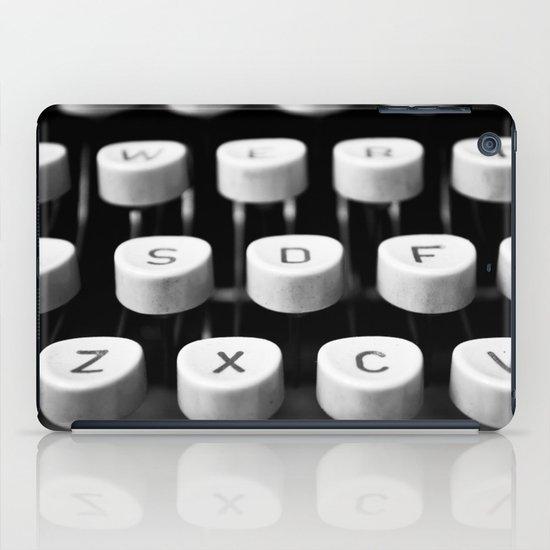 Vintage typewriter 3 iPad Case