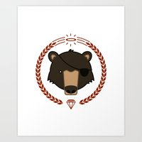 Mr. Bear Art Print