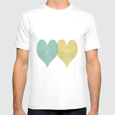 True Love SMALL White Mens Fitted Tee