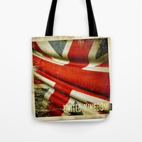 Sticker With UK Flag Tote Bag