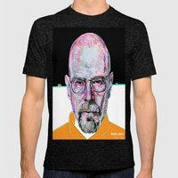 Walter White Mens Fitted Tee Tri-Black SMALL