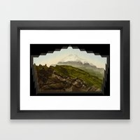 Shattered Mountain Framed Art Print