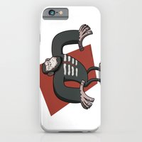iPhone & iPod Case featuring Caesar - Dawn of the Planet of the Apes Cartoon by Aaron Lecours