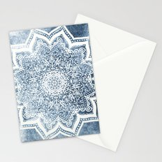 BLUEISH SEA FLOWER MANDALA Stationery Cards