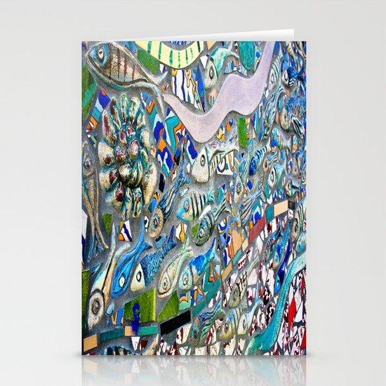 Venice Beach Bathroom Art Stationery Card