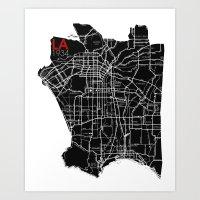 Los Angeles 1934 Art Print