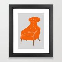 Orange Chair Framed Art Print