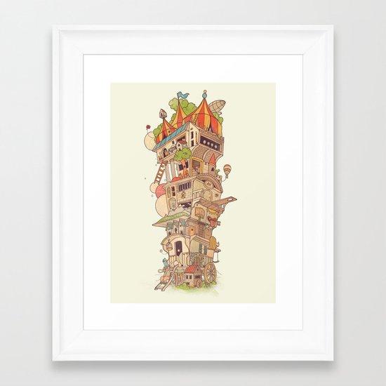 Traveling Circus Framed Art Print
