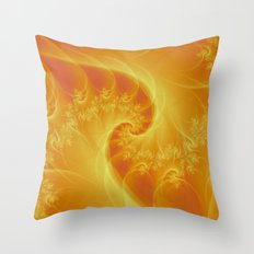 Orange Twist Throw Pillow