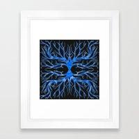 Ghostly Vines (Deep Blue… Framed Art Print