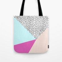 Polka Dot Rain Geometric Tote Bag