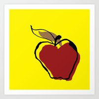 STATIONERY CARD - Apple for Teacher Art Print