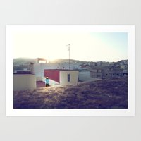 Tanger Roof Top With Pix… Art Print