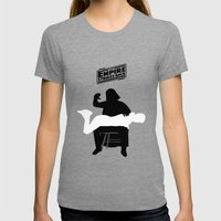 Empire strikes back Womens Fitted Tee Tri-Grey SMALL