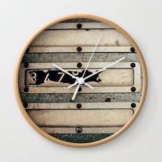 Industrial Numbers Wall Clock
