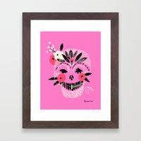 Tribal Boho Skull Framed Art Print
