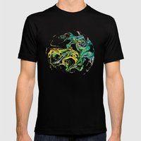 Swirling World V.1 Mens Fitted Tee Black SMALL