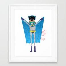The Bat Mang! Framed Art Print