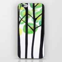 blacks trees iPhone & iPod Skin