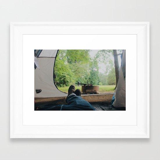 Camp Life Framed Art Print