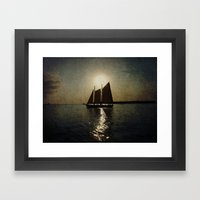 Sailing at twilight Framed Art Print