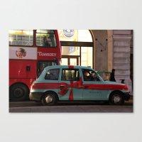 Tiffany Taxi Canvas Print