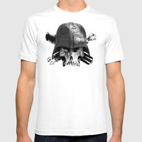 Darth Bones Mens Fitted Tee White SMALL