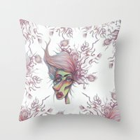 Sorting Through Weeds Throw Pillow