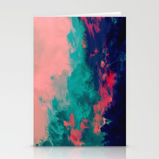 Painted Clouds IV Stationery Card
