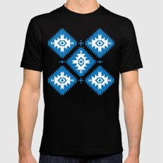 NavNa Blue SMALL Black Mens Fitted Tee